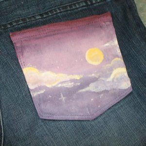 Hand painted J crew toothpick jeans